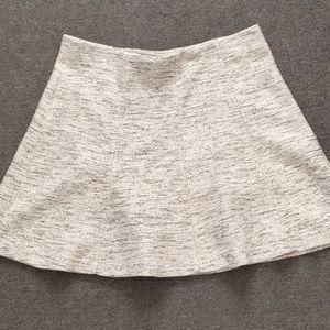 Black and white flippy skirt